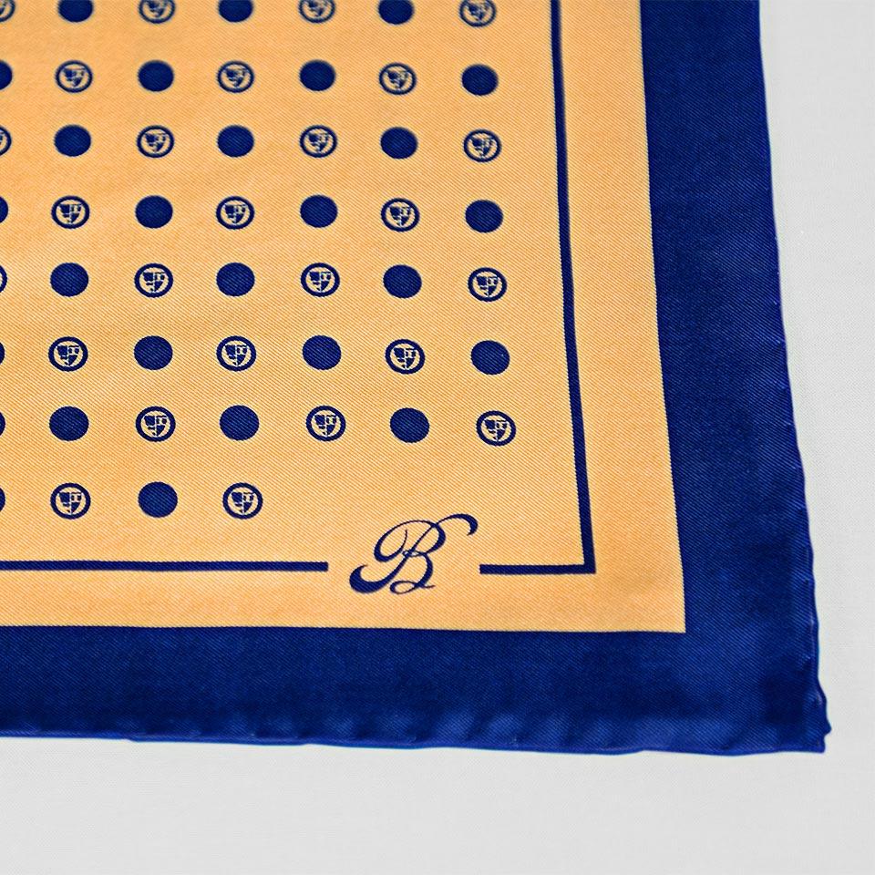 Roundel Polka Print Silk Pocket Square