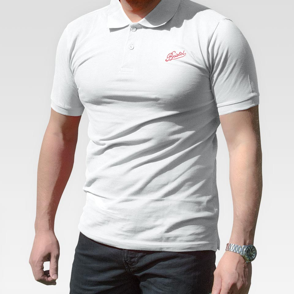 White Cotton Polo Shirt