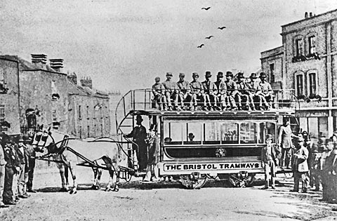 Bristol horse drawn bus