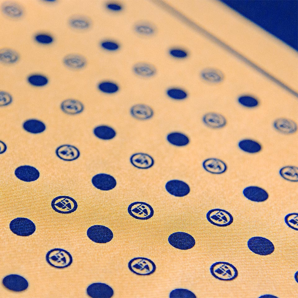Roundel Polka Print Silk Pocket Square
