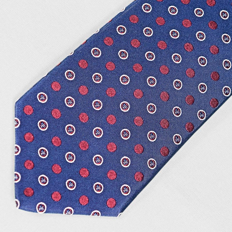 Roundel Polka Woven Silk Tie