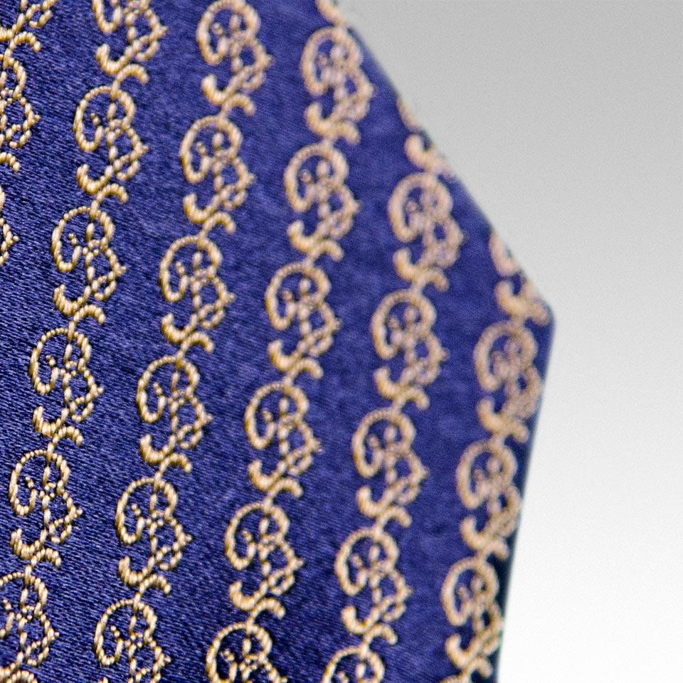 Signature \'B\' Woven Silk Tie